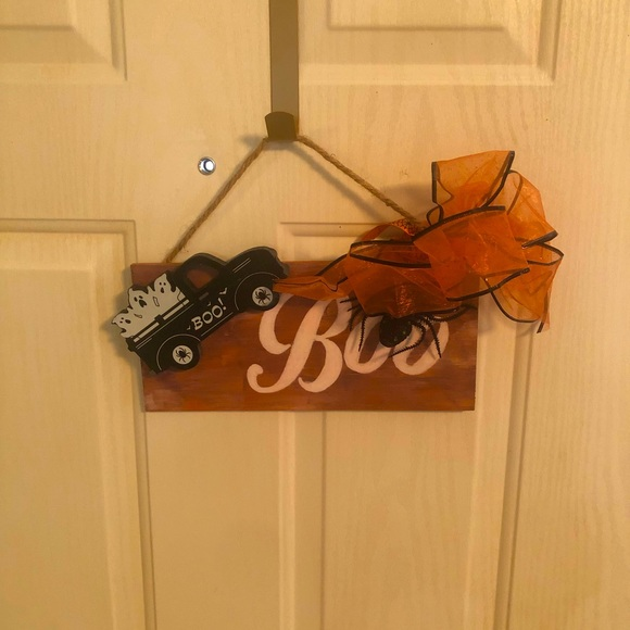Handcrafted Wood Halloween Sign